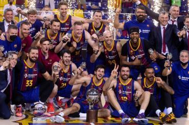 Barcelona, con el aporte de Leandro Bolmaro, se consagró campeón del básquetbol de España