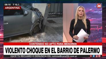 Violento choque en el barrio de Palermo