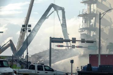 Miami: analizan si el área del derrumbe aún es zona de peligro