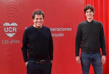 Facundo Manes y Martín Lousteau encabezaron el acto de festejo por los 130 años de la UCR