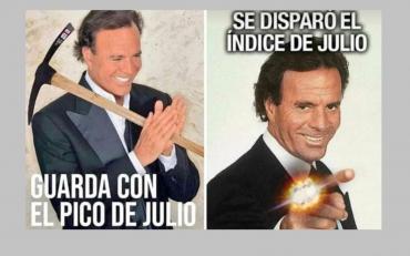 Con la llegada del nuevo mes, los memes de Julio Iglesias inundaron las redes