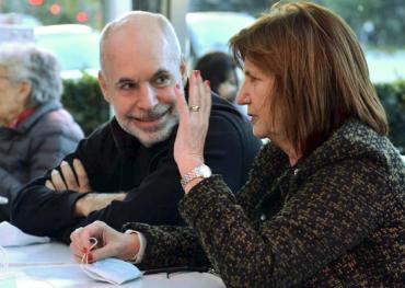 Bullrich y Rodríguez Larreta se mostraron juntos reforzando el mensaje de