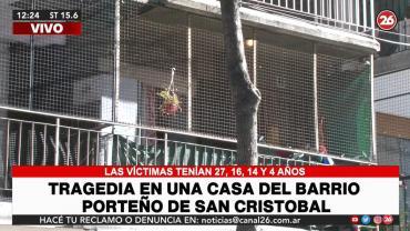 Tragedia en San Cristóbal: tres menores y una joven murieron intoxicados con monóxido de carbono