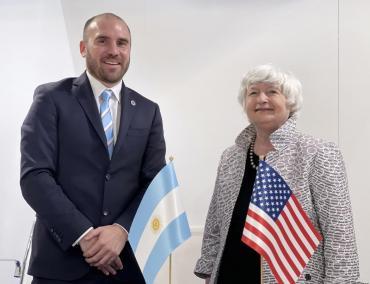 FMI e impuesto global: el encuentro de Martín Guzmán con Janet Yellen, secretaria del Tesoro de EE.UU.