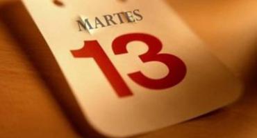 Martes 13: no te cases, ni te embarques, ni de tu casa te apartes
