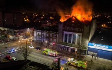 Se incendió el antiguo cine San Martín de Mar del Plata