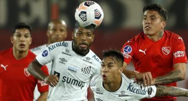 Independiente no pudo ante Santos y quedó eliminado de la Copa Sudamericana