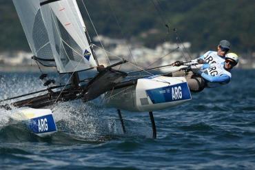 Gran debut para Lange y Carranza en la clase Nacra 17 de vela