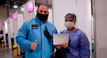 En la Ciudad de Buenos Aires comenzaron a vacunar con la segunda dosis al personal de Seguridad