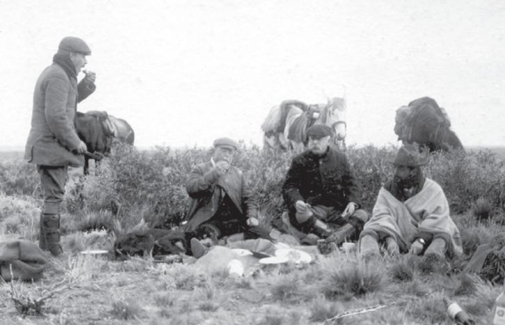 Thomas Holdich y Moreno en el río Senguer, el 31 de mayo de 1902