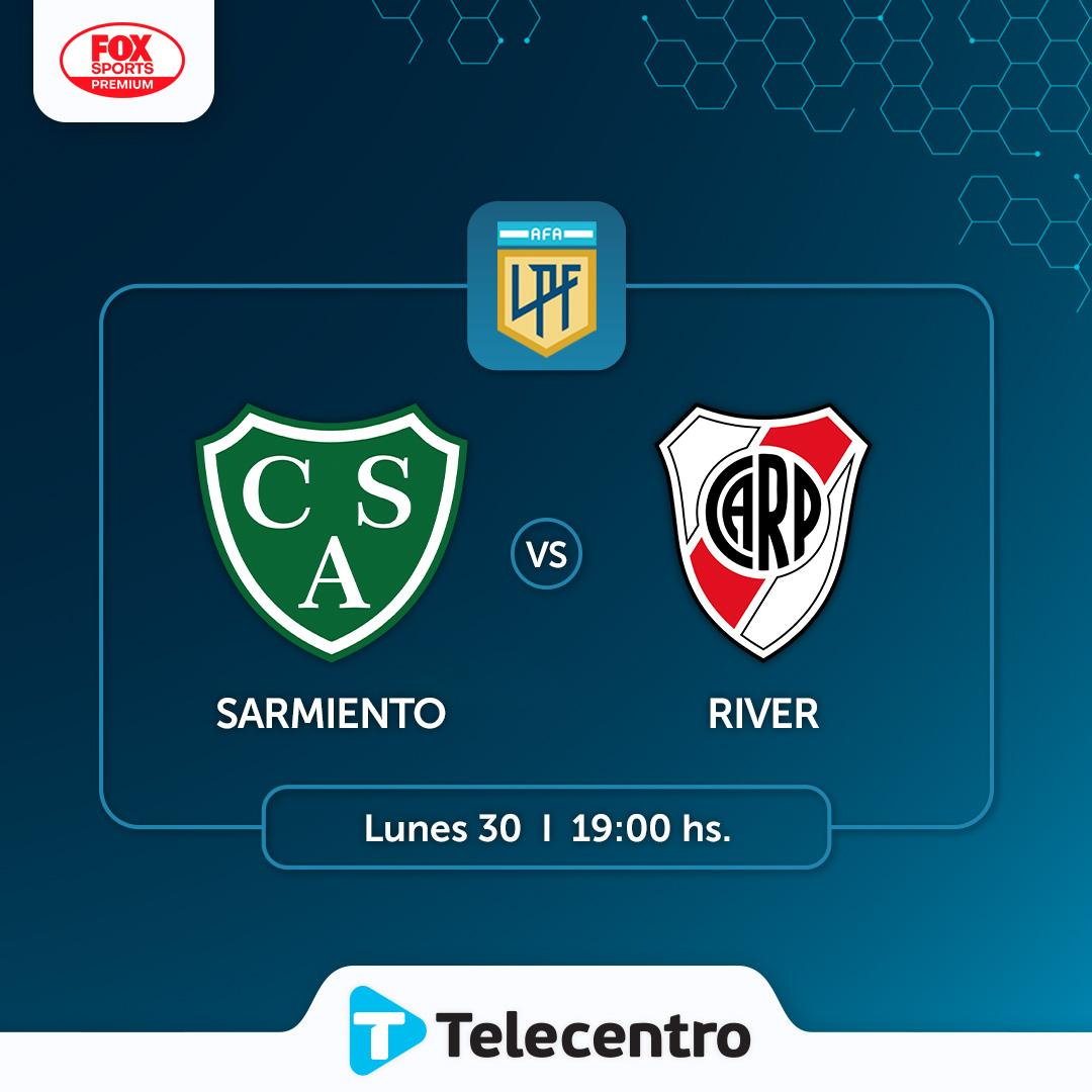 Promo River Plate vs Sarmiento de Junín, Liga profesional de fútbol por Telecentro.