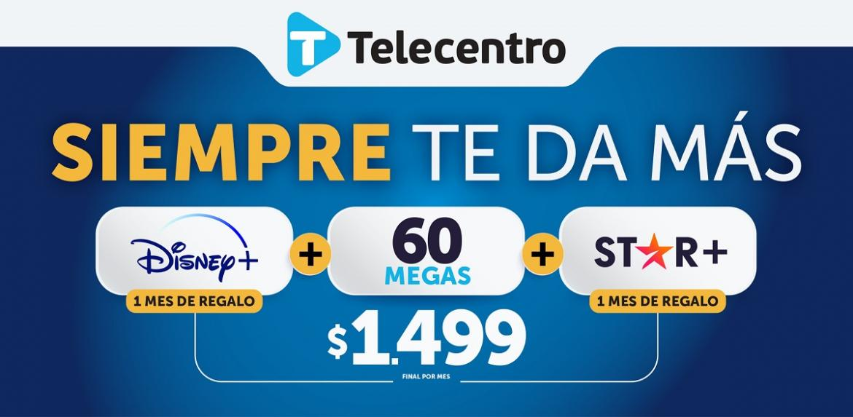 Banner Telecentro + Star+, 31 de agosto de 2021.
