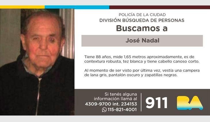 José Nadal, anciano desaparecido