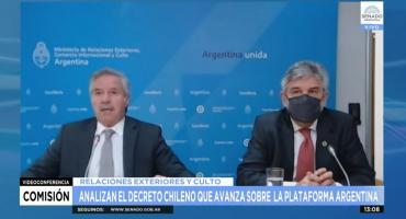 Informe de Felipe Solá y Daniel Filmus en el Senado sobre el conflicto limítrofe con Chile