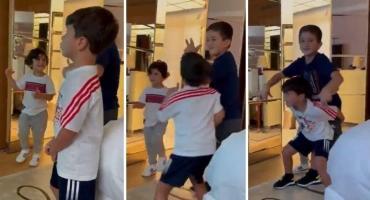 Furor en redes por el video de Mateo, Ciro y Thiago Messi bailando al ritmo de Bizzarap