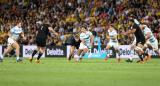 Los Pumas mejoraron su imagen pero cayeron ante los poderosos All Blacks por el Rugby Championship