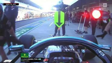 Susto en la Fórmula 1: Lewis Hamilton atropelló a uno de sus mecánicos en las pruebas del Gran Premio de Rusia