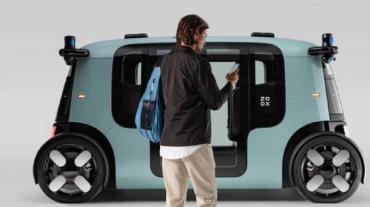 Amazon comienza a probar su robot taxi: no tiene conductor y es eléctrico
